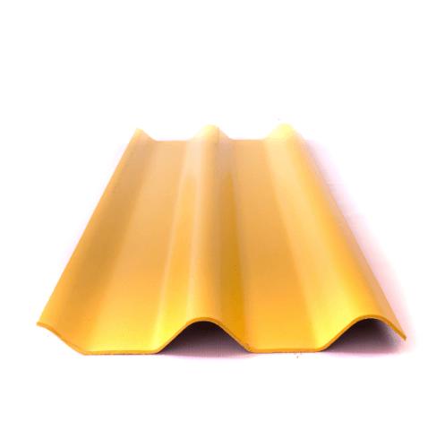 โอฬาร กระเบื้องลอนคู่ 5 มม. 50*150 ซม.(ลูกโลก) สีประกายทองคำ ลอนคู่