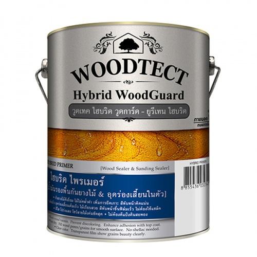 Woodtect สีรองพื้นไม้ Hybrid Primer สีวอลนัท  WW-5103 1 กล.