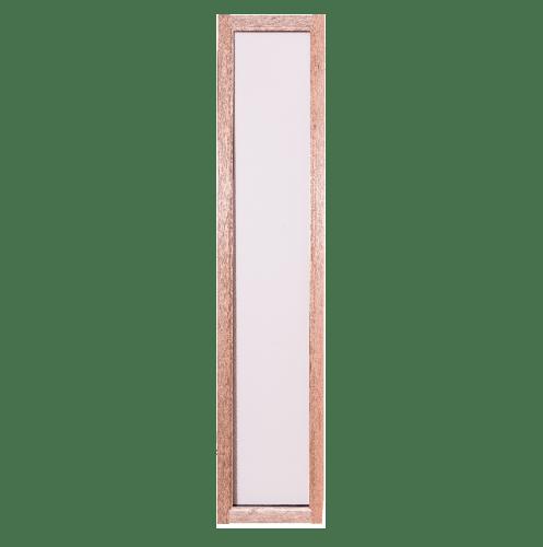 BEST ประตูไม้สยาแดงพร้อมกระจกใส ขนาด 50x240ซม. ทำสี GS-69