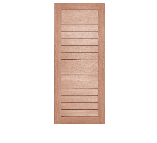 BEST  ประตูไม้สยาแดง ขนาด  90x180ซม. GS-52 ไม้ธรรมชาติ