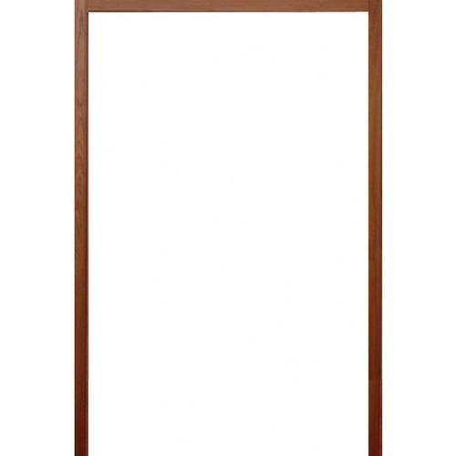 BEST วงกบประตูไม้เนื้อแข็งพร้อมซัพและรางเลื่อน  ขนาด180x240ซม. (ทำสี)