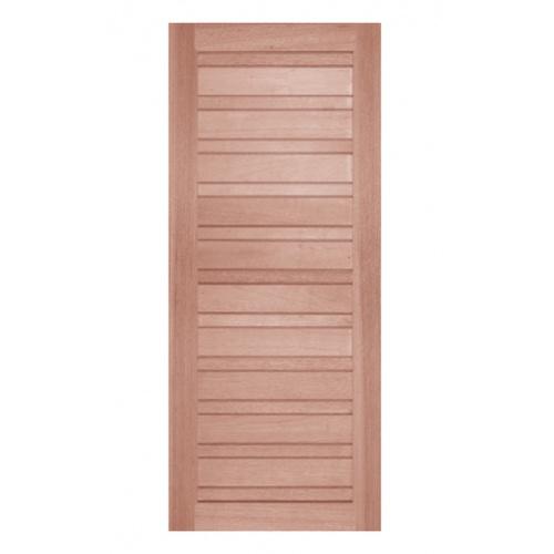 BEST ประตูไม้สน บานทึบทำร่องขนาด 100x240ซม. GS-53