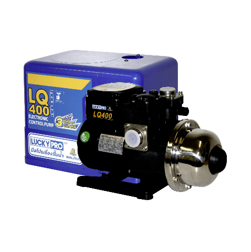 LUCKY STAR ปั๊มน้ำอัตโนมัติ 400W. LP-LQ400 ดำ-เงิน