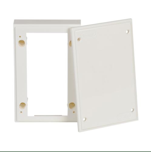 LEETECH แผงไฟฟ้าพลาสติกใหม่ 3x5 ซม. BA305 W  สีขาว