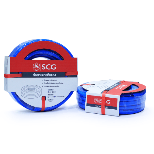 SCG สายยางสีฟ้าเด้ง ขนาด 5/8นิ้ว  x 30