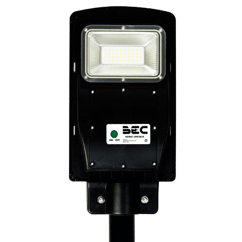 BEC โคมไฟถนน LED โซล่าร์ 30W 6000K VIENNA สีดำ