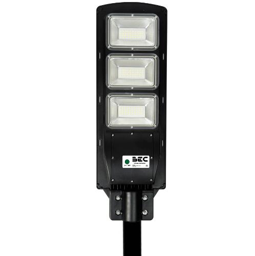 BEC  โคมไฟถนน LED โซล่าร์ 90W 6000K   VIENNA สีดำ