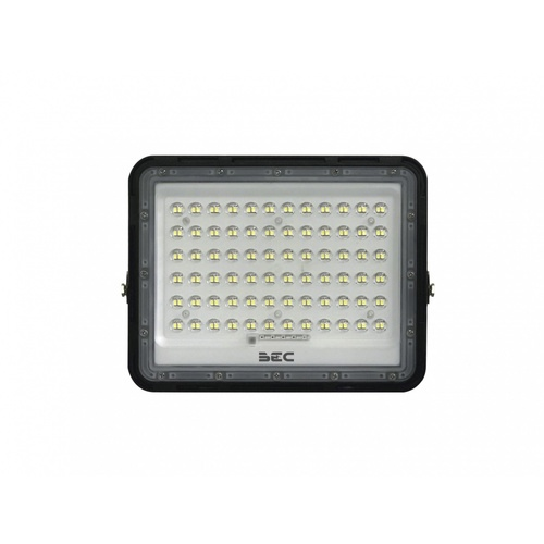 BEC โคมฟลัดไลท์ LED โซล่าร์ 100W 6500K  WOODY  สีดำ