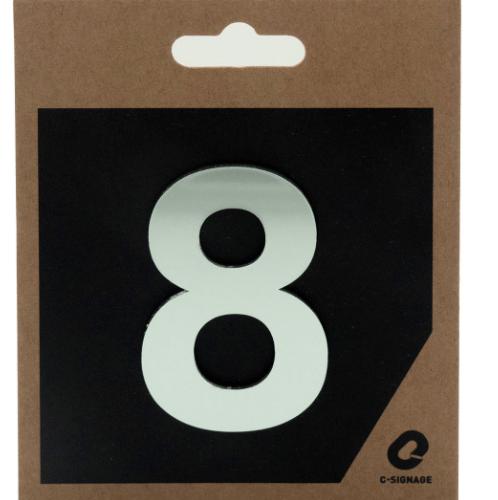 C Signage ป้ายอลูมิเนียม  ตัวเลข 8 แบบเงา CSLS-H 2008