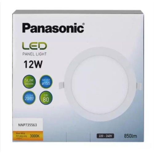 PANASONIC หลอด LED พาแนล 12 วัตต์ แบบกลม ซอฟต์วอร์ม NNP735563