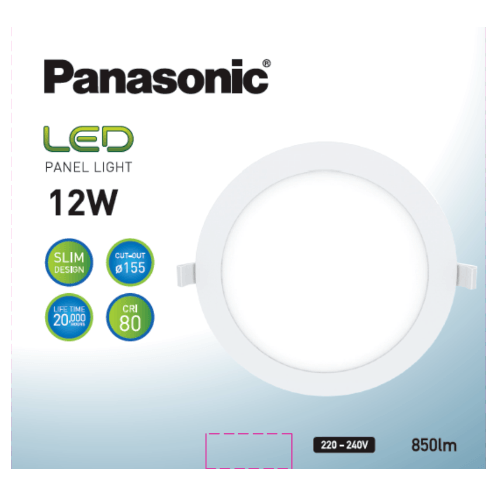 PANASONIC หลอด LED พาแนล 12 วัตต์ แบบกลม เดย์ไลท์ NNP735663