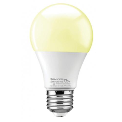RACER  หลอด LED Bulb 10.5W E27 WW 3000K เคที A60  สีขาว