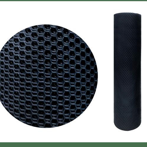 Leo Net ตาข่ายพลาสติกหกเหลี่ยม สีดำ 12มิล 30x0.9ม.  #328
