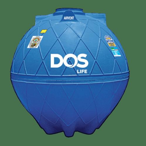 DOS ถังเก็บน้ำใต้ดิน 3000L  DUT GOLD สีน้ำเงิน