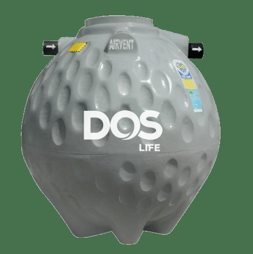 DOS ถังบำบัดน้ำเสีย 1200L  COMPACT  สีเทา