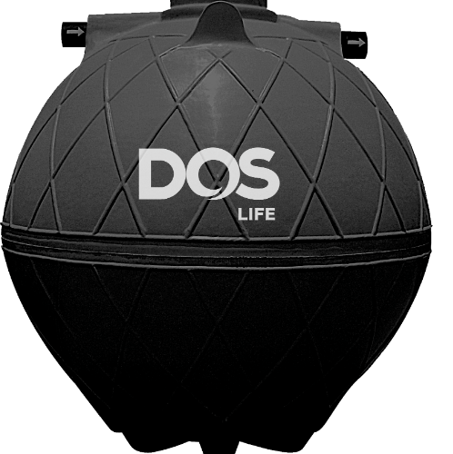 DOS ถังบำบัดน้ำเสีย 5000L SUPER SEPT สีดำ