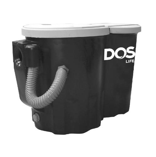 DOS ถังดักไขมันบนดิน CENTURY 50 P สีดำ