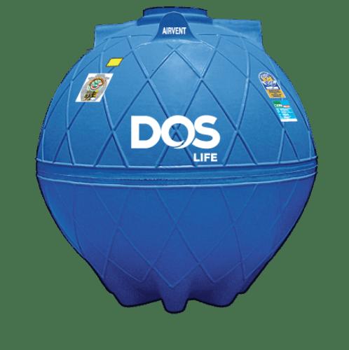 DOS ถังเก็บน้ำใต้ดิน 4000L  DUT GOLD สีน้ำเงิน