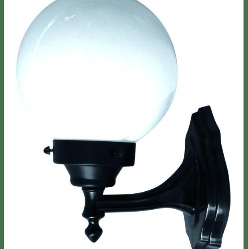 The Sun โคมไฟผนังแก้วกลม WA8/1-B สีดำ