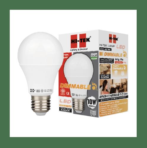 HI-TEK หลอด LED 10W ECO  หรี่ได้ แสงนวล
