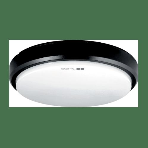 HI-TEK โคมไฟ LED   ทรงกลม 15W IP54 แสงนวล สีดำ