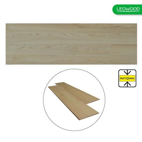 LEOWOOD ไม้พื้นลามิเนต Motif Oak (Metro Swiss Oak)  ขนาด 12x198x1210 (1.92ตร.ม./กล่อง)(8P) A. สีน้ำตาล