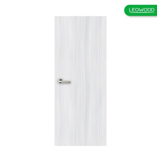 LEOWOOD ประตูยูพีวีซ๊ iDoor Aqua บานเรียบลายไม้ ขนาด 70x200cm.   IAU057  สี Light Grey สีเทาอ่อน