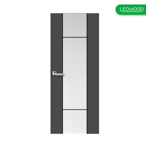 LEOWOOD ประตู iDoor S7 #01 ขนาด80x200 ซม.  Pearl White-Platinum Grey  (IP7018) สีเทา