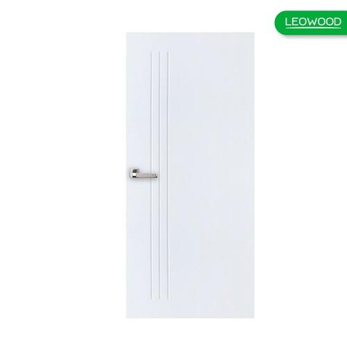 LEOWOOD  ประตูยูพีวีซี บานทึบ ขนาด 90x200ซม. สีขาวลายไม้  iDoor Aqua  สีขาว