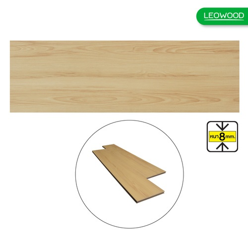 LEOWOOD ไม้พื้นกันน้ำ Aqua Natural Oak ขนาด 4x183x1218mm (12P) (2.67sqm)