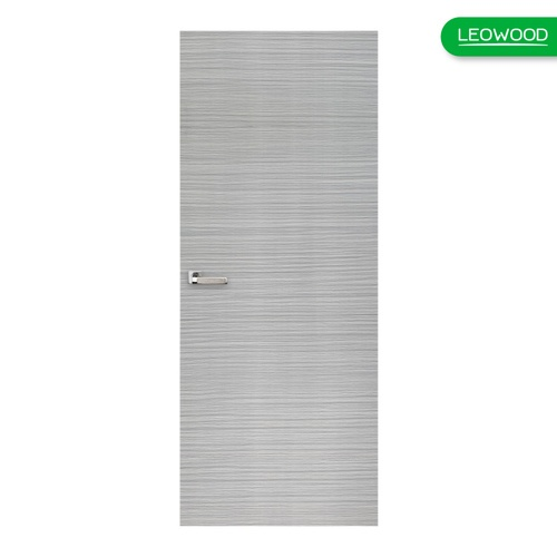LEOWOOD ประตูยูพีวีซี Aqua ขนาด 80x200cm.  IAP068 สีเทาเข้ม