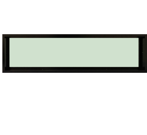 TRUSTAND (EZY WINDOW)  หน้าต่างอะลูมิเนียมช่องแสงติดตาย 150x40ซม. สีดำ กระจกใสเขียว Enzo ดำ