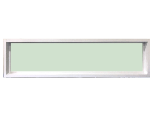 TRUSTAND (EZY WINDOW) หน้าต่างอะลูมิเนียมช่องแสงติดตาย 150x40ซม.  Enzo ขาว