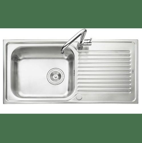 MEX อ่างล้างจาน 1 หลุมมีที่พัก  DLA101