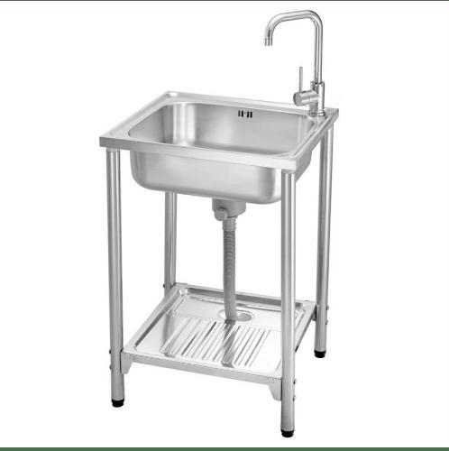 MEX อ่างล้างจานพร้อมขาตั้ง 1 หลุมไม่มีที่พัก PSA55ML