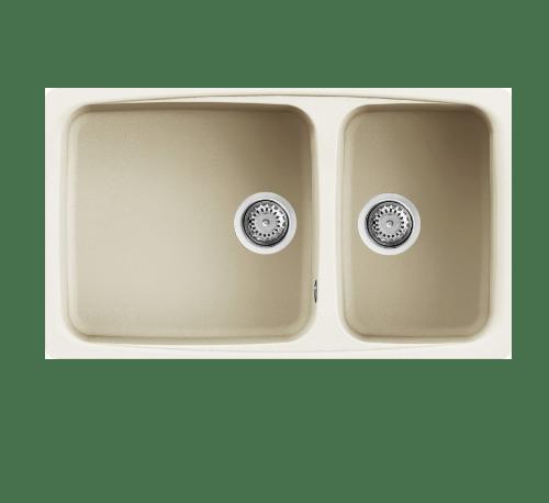 MEX อ่างล้างจานแกรนิต 2 หลุมไม่มีที่พัก DELLA450