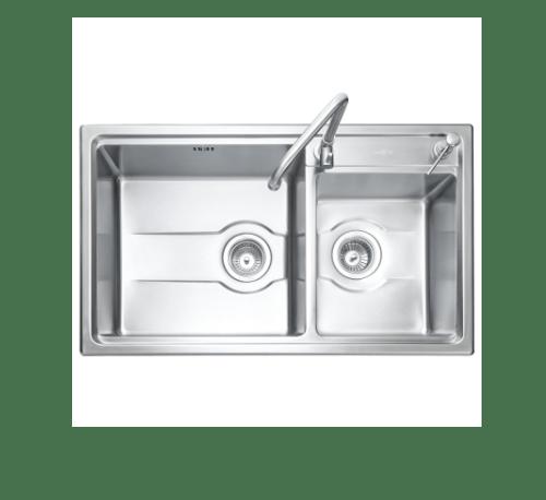 MEX  อ่างล้างจาน 2 หลุมไม่มีที่พัก TD822