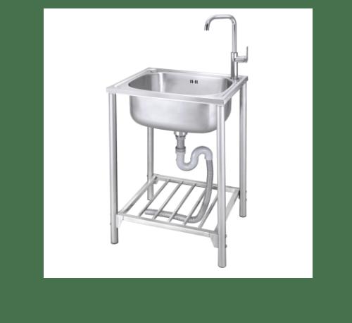 MEX อ่างล้างจานพร้อมขาตั้ง 1 หลุมไม่มีที่พัก  PSD60