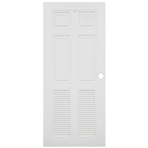 CHAMP ประตูยูพีวีซี ขนาด80X200cm. MU4-UPVC สีขาว
