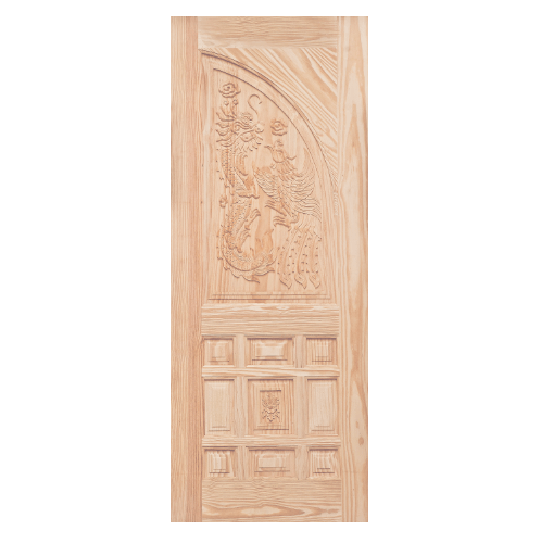 WINDOOR ประตูสลักลาย  สนNz  ขนาด 100x200 ซม. LA 999 สีเหลือง
