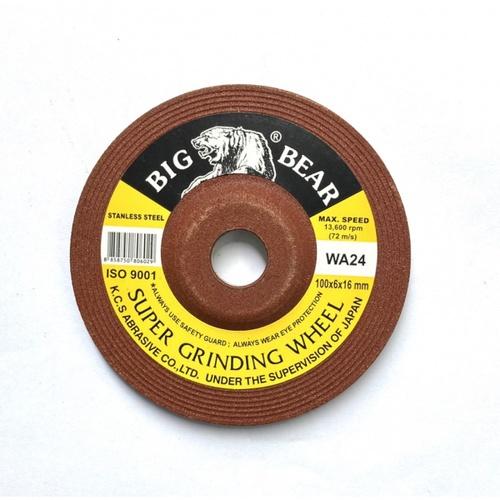 BIG BEAR แผ่นเจียร์สแตนเลส 4นิ้ว สีแดง