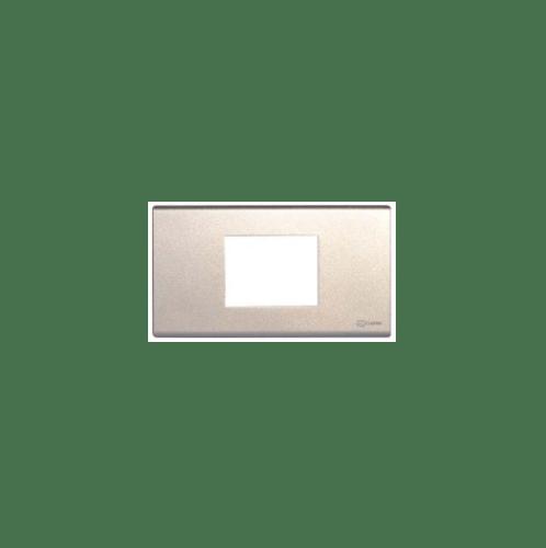 CHANG ฝาพลาสติก 2 ช่องกลาง FA-205C-W สีเงิน(เม็ททัลลิค)-ช้าง FA-205C-W Y-Series Metallic