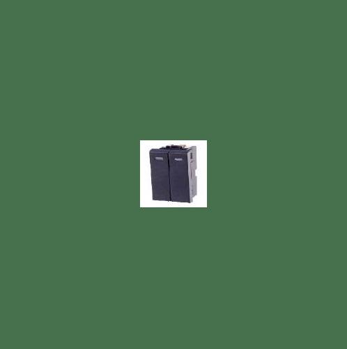 CHANG สวิทช์คู่ 1 ทาง S-614C สีดำ