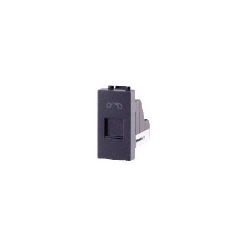 CHANG เต้ารับโทรศัพท์ R-160C สีดำ