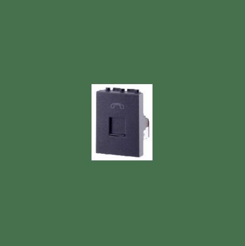 CHANG เต้ารับโทรศัพท์ R-162C สีดำ