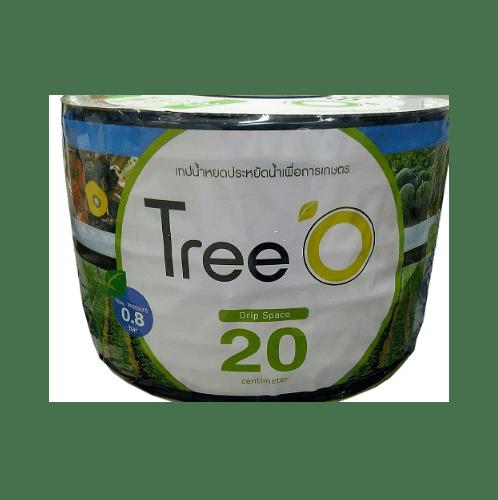 Tree O เทปน้ำหยดTreeo 20ซม.1000ม. 2ลิตร/ชม. Tree o