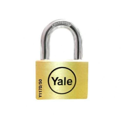 YALE กุญแจคล้องสายยู ห่วงสั้น ขนาด 50 มม. Y117D/50/127/1