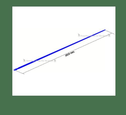 ตราช้าง ชุดกันตกอุปกรณ์เสริม Hand Rail 1829 สีน้ำเงิน