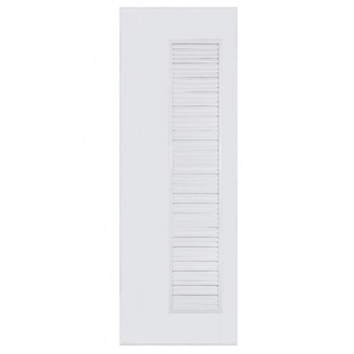 BATHIC  ประตูพีวีซี เกล็ดข้างตลอด ขนาด 80x180ซม. (ไม่เจาะ) BC5 สีขาว