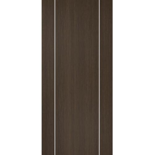 BATHIC ประตูไม้สังเคราะห์  ขนาด 90x200ซม.  (ไม่เจาะรู) BWC02 น้ำตาลเข้ม